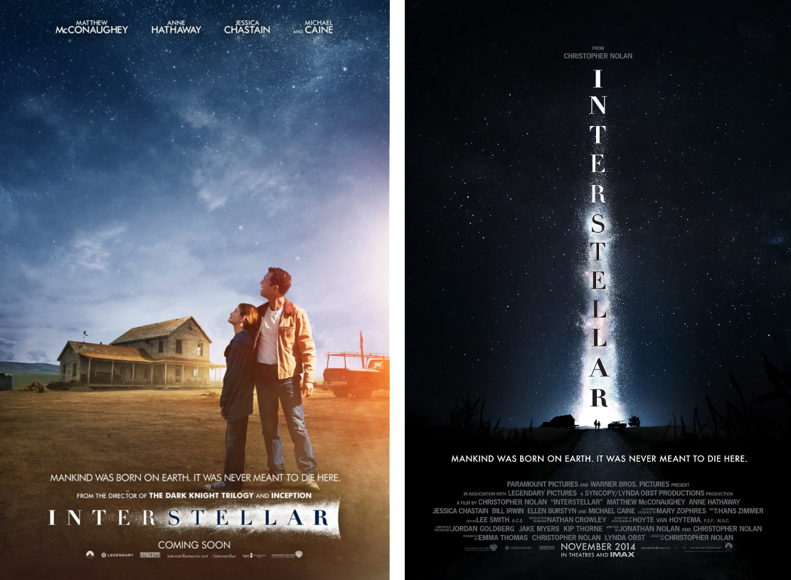 Cooper (McConaughey) and Murphy (Foy) gazing up at the stars.