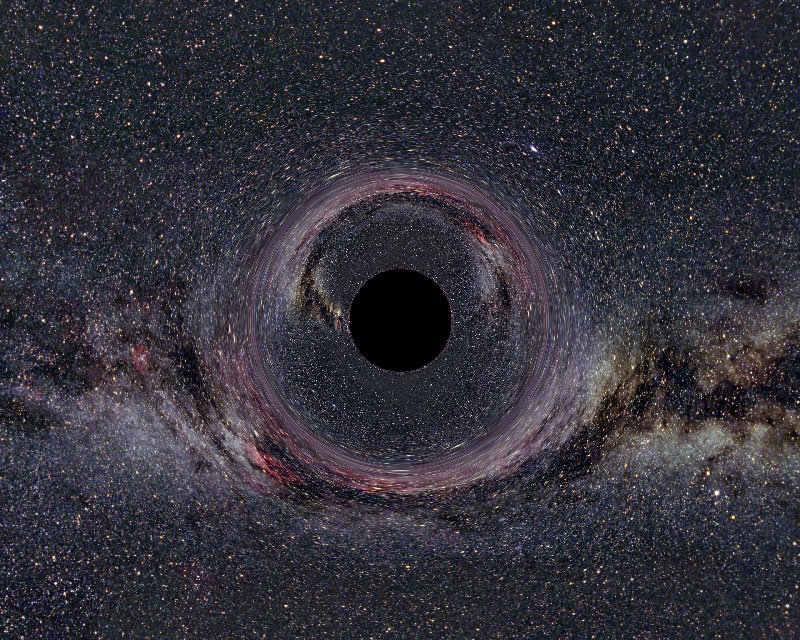 Observing the unobservable outdoors. Black hole, Wikimedia commons.